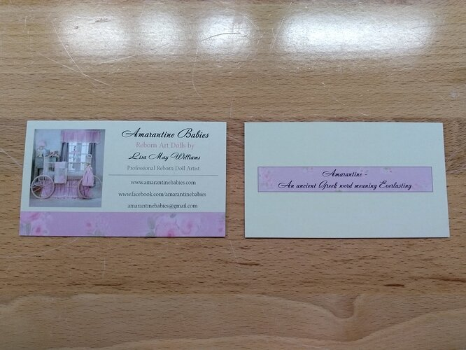 Business cards for nursery - For Sale/Wanted - Bountiful ...